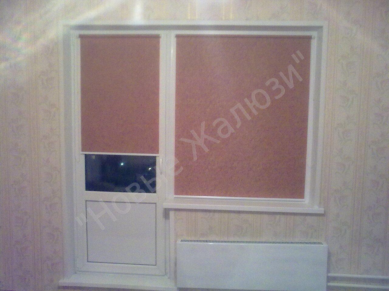 Жалюзи на балконную дверь фото 5